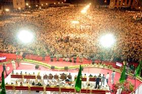 Shaykh-ul-Islam addresses a historic gathering of millions in Hyderabad, India