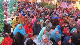 منہاج القرآن ویمن لیگ میرپور آزاد کشمیر کے زیراہتمام محفل میلاد