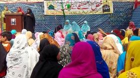 منہاج القرآن ویمن لیگ مانانوالہ کے زیراہتمام محفل میلاد