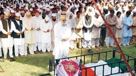 تحریک منہاج القرآن فیصل آباد کے بانی رہنما حاجی محمد عنایت قادری مرحوم کی نماز جنازہ