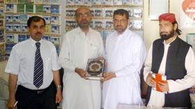 اسلامک یونیورسٹی اسلام آباد کے ڈین نبی بخش جمانی کا مانکیالہ مسلم کا دورہ