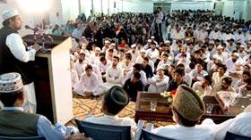 صاحبزادہ حسین محی الدین قادری کے اعزاز میں استقبالیہ تقریب