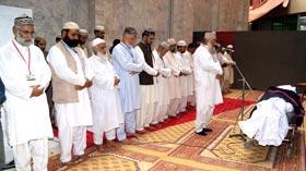 Shaykh-ul-Islam condoles death of father of Zia-ul-Haq Razi