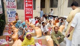 منہاج ویلفیئر فاؤنڈیشن کے تحت کم آمدنی والے خاندانوں کو عید پیکج کی تقسیم