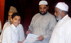 قصر جمال شادی ہال لاہور میں تقریب تقسیم اسناد عرفان القرآن کورس