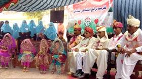 سید والہ میں 5 شادیوں کی اجتماعی تقریب