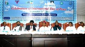 لاہور : انٹرنیشنل ڈے آف پیس کے موقع پر پیس سنٹر میں تقریب