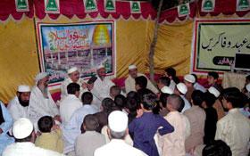 پشاور : مصطفوی سٹوڈنٹس موومنٹ کے یوم تاسیس کے موقع پر حلقہ درود کا انعقاد