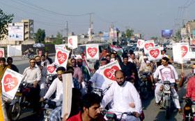 کینٹ ٹاؤن لاہور : عظمت مصطفیٰ (ص) موٹر سائیکل ریلی