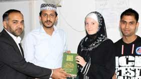 منہاج القرآن انٹرنیشنل (گارج لے گونس، فرانس) میں فرنچ لڑکی کے قبول اسلام کی تقریب