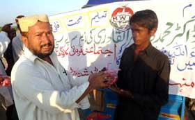کھپرو (سندھ): منہاج ویلفیئر فاؤنڈیشن کے تحت مستحق لوگوں میں قربانی کے گوشت کی تقسیم