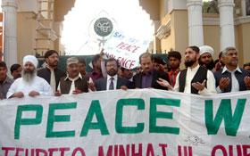 ننکانہ صاحب : تحریک منہاج القرآن کے زیراہتمام انٹرفیتھ پیس واک