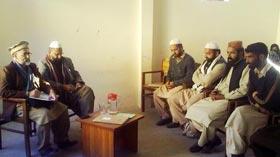 آزاد کشمیر (مظفر آباد) : امیر کشمیر سید ابرار سرور شاہ کا تنظیمی دورہ