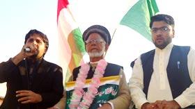 بابا غلام حیدر بٹ کا پیدل قافلہ جہلم پہنچ گیا