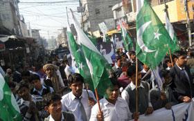 منڈی بہاؤالدین : پاکستان بچاؤ طلبہ ریلی