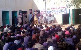 ضلع بارکھان : صدر ایم ایس ایم تجمل حسین انقلابی کا دورہ بلوچستان