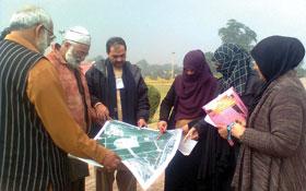 لاہور : مرکزی کمیٹی برائے خواتین کا مینار پاکستان پر تیاریوں کا جائزہ