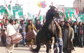 ڈسکہ : منہاج القرآن یوتھ لیگ اور ایم ایس ایم  کے زیراہتمام موٹر سائیکل ریلی