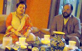 پاکستان عوامی تحریک کے رہنماؤں کی معروف دانشور دفاعی تجزیہ کار شیریں مزاری سے ملاقات