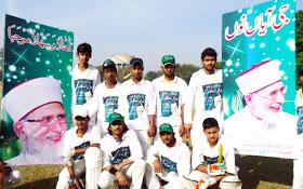 لاہور : نظام بدلو اور استقبال قائد مہم کے سلسلہ میں کرکٹ میچ