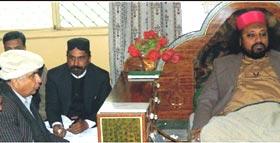 چکوال : تحریک منہاج القرآن کے وفد کی پیر مستوار قلندر سے ملاقات