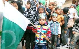 سیالکوٹ : تحریک منہاج القرآن چلڈرن لیگ کے زیراہتمام ''سیاست نہیں ریاست بچاؤ'' ریلی