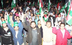 منہاج القرآن یوتھ لیگ کا جیوے پاکستان مشعل بردار جلوس