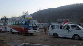 لاہور: آزاد کشمیر اجیرہ سے قافلہ مینار پاکستان پہنچ گیا
