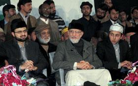 عوامی استقبال جلسہ کی مرکزی کمیٹیوں کے ممبران سے شیخ الاسلام کی ملاقات