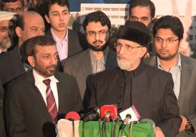 Press Conference Dr Tahir-ul-Qadri and MQM at Central Secretariat MQI - 27-12-12