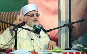 ڈاکٹر طاہرالقادری کا عوامی استقبال جلسہ میں لاکھوں افراد سے خطاب