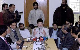 لاہور : شیخ الاسلام ڈاکٹر محمد طاہرالقادری کی پریس میڈیا سے ملاقات