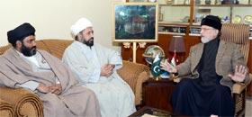 مجلس وحدت المسلمین کے وفد کی ڈاکٹر طاہرالقادری سے ملاقات، لانگ مارچ میں شرکت کی یقین دہانی