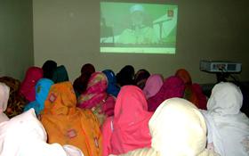 جہلم : پروجیکٹر پروگرام و کارنر میٹنگ برائے عوامی مارچ