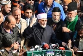 ڈاکٹر طاہرالقادری کی قیادت میں لانگ مارچ لاہور سے روانہ
