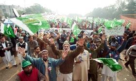 جمہوریت مارچ کا تصویری منظرنامہ