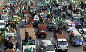 GEO News: Tahir-ul-Qadri's Long March enters Islamabad
