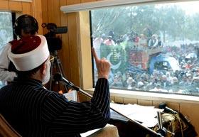 ڈاکٹر طاہرالقادری کی حکومت کو تین بجے کی ڈیڈ لائن