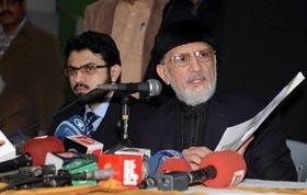 لاہور : ڈاکٹر طاہرالقادری کی اہم پریس کانفرنس