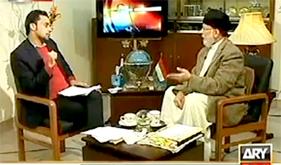 اے آر وائی : ڈاکٹر طاہرالقادری کا وسیم بادامی کے ساتھ خصوصی انٹرویو