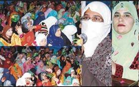 فیصل آباد : ویمن لیگ کے زیراہتمام محفل میلاد مصطفیٰ (ص)