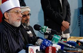 پریس کانفرنس: ڈاکٹر طاہرالقادری کا کوئٹہ کو فوج کے حوالے کرنے کا مطالبہ
