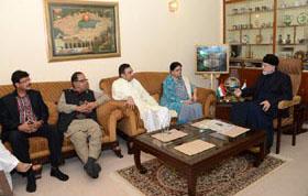 MQM delegation meets with Dr Tahir-ul-Qadri