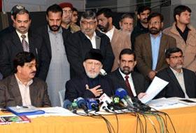 Dr Tahir-ul-Qadri asks ECP not to buckle under pressure