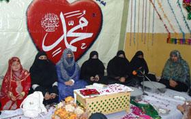 جہلم: ویمن لیگ کے زیراہتمام محمدی چوک میں محفل میلاد