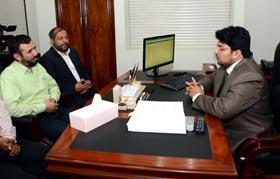 ڈائریکٹر ایرانی کلچرل کونسل اسلام آباد ڈاکٹر تقی صادقی کی ڈاکٹر حسین محی الدین قادری سے ملاقات