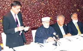 لندن: پاکستان پروفیشنلز فورم کے زیراہتمام ڈاکٹر محمد طاہر القادری سے نامور برطانوی شخصیات کی ملاقات