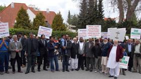 ڈنمارک: پاکستانی کمیونٹی کا کرپٹ نظام انتخاب کے خلاف پر زور احتجاج