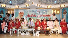 گجرات: منہاج ویلفیئر فاؤنڈیشن کے زیر اہتمام اجتماعی شادیوں کی تقریب