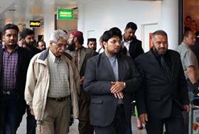Dr Hussain Mohi-ud-Din Qadri reaches Denmark on Scandinavia tour